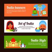 India mini poster — Stock Vector