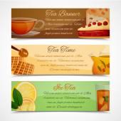 Tea banners set — Stock Vector