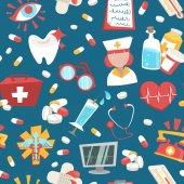 Krankenhaus nahtlose muster — Stockvektor