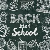 Back to school blackboard poster — Stock Vector