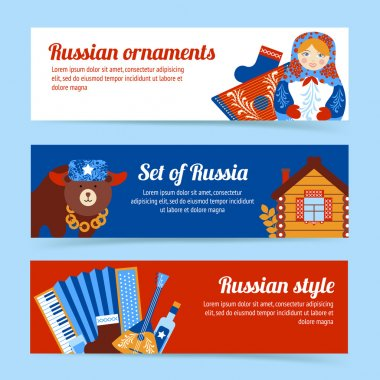 Russia travel banner set