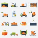 Warehouse Icons Flat — Stock Vector #53599725