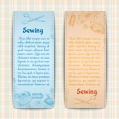 Set di banner per cucire — Vettoriale Stock