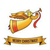 Christmas angel icon — Stock Vector