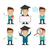 Education characters set — Stock Vector