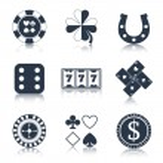 Casino black design elements — Stock Vector #53849175