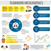 Teamwork business infographic — Stock Vector