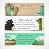 Spa banners horizontal — Vector de stock