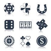 Casino black design elements — Stock Vector