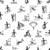 Extreme sports seamless pattern — Stock Vector