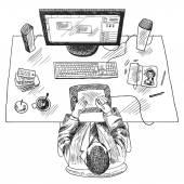 Designer work place — Stock Vector