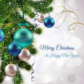 Merry christmas postcard — Stock Vector