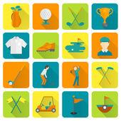 Golf Icons Set — Stock Vector