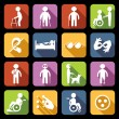 Disabled Icons Set Flat — Stock Vector #53850059