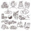 iconos de bosquejo Spa — Vector de stock  #53850461