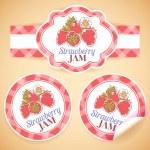 Strawberry jam labels — Stock Vector #53850727