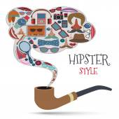 Hipster style concept — Stock Vector