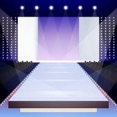 Fashion runway poster — Stock Vector