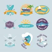 Conjunto de etiquetas de surf — Vector de stock