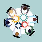 Business cooperation concept — Vector de stock