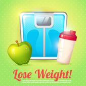 Weight poster diet — Stock Vector