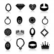 Jewelry icon set black — Stock Vector #53998429