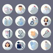 Nurse icon set — Stock Vector
