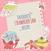 Strawberry jam poster — Stock Vector