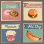 Fast food menu cards — Stock Vector #54317215