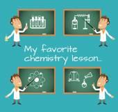 Chemistry lesson chalkboards — Stock Vector