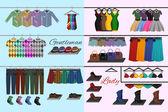 Sklep z odzieżą koncepcja — Wektor stockowy