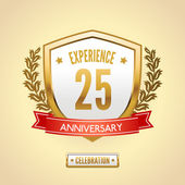 Anniversary label shield — Stock Vector
