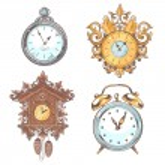 Old vintage clock set — Stock Vector #54324997