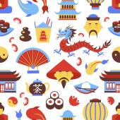 China seamless pattern — Stock Vector