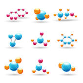 3D chemical molecules — Stock Vector
