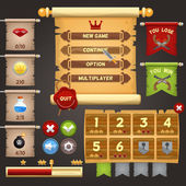 Game interface design — Vector de stock