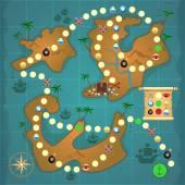Pirates treasure island game — Stock Vector