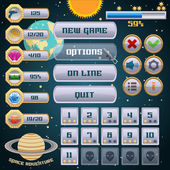Space game interface design — Stock Vector