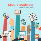 Mobile health concept — Stockvector