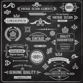 Vintage design elements — Stock Vector