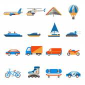 Transportset pictogrammen — Stockvector