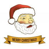 Christmas santa claus icon — Stock Vector