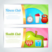 Fitness club card design — Stock Vector