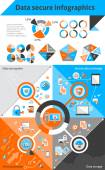 Data secure infographics — Stock Vector