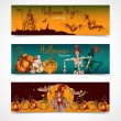 Halloween colored banners horizontal — Stock Vector #54335457
