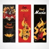 Rock music banners set — Stock Vector