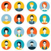 Avatar icons set — Stock Vector