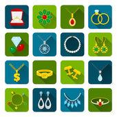 Jewelry icon set — Stock Vector