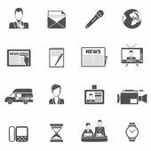 News icons black — Vector de stock