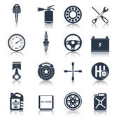 Car parts icons black — Stock Vector